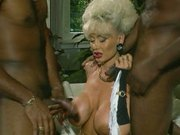 Dolly Buster – Milf  fucked by 2 Black Guys