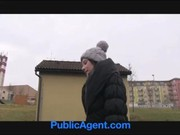 PublicAgent Outdoor sex filmed on amateur camcorder in public place