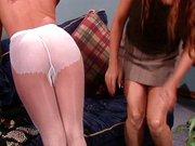 Lesbian pantyhose fetish sluts let loose