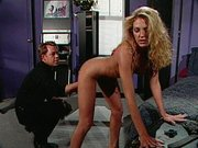 Hot blonde dominated and spanked right