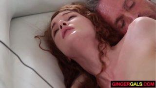Redhead Stepdaughter Abbey Rain gets Banged
